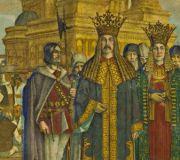 Неагое Басараб,на фоне Куртя де Арджеш
