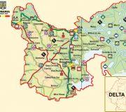 Дельта Дуная туристическая карта