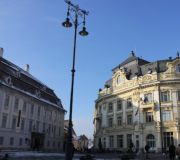 Сибиу мэрия и дворец Брукенталя