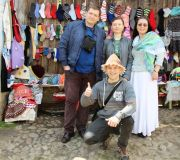 покупаем тапочки и шапки в Вискри
